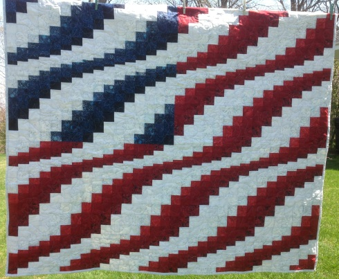 bargello flag white